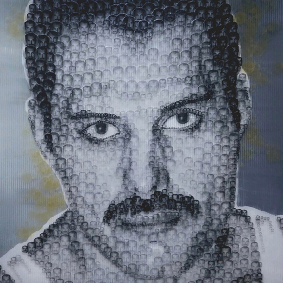 FREDDIE MERCURY - Collage Puntillista - Josep Mora