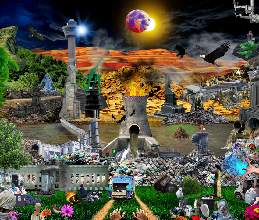 Itfrid Ax - German Aponte - Collage digital - Municipal Trash