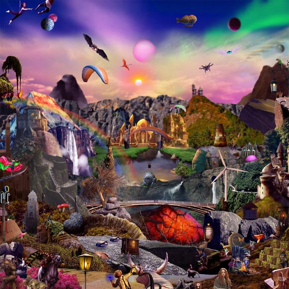 Itfrid Ax - German Aponte - Collage digital - Montañas prismáticas