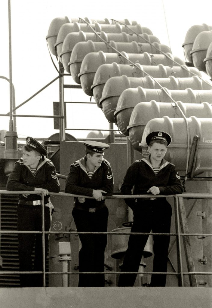 Russian Sailors - Port Vell (Barcelona. March 1993)