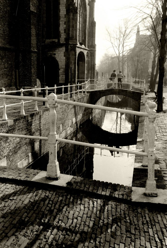 Crossing the Canals (Delft, Netherlands. February 1989)