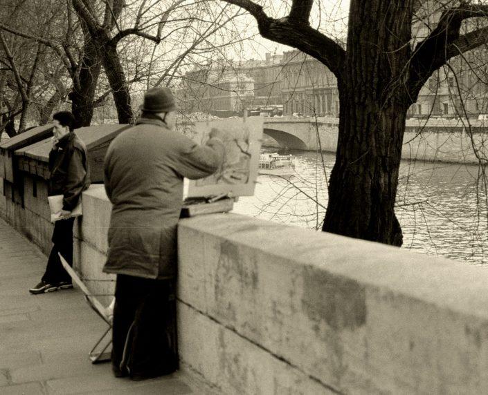 La Seine Painter (Paris, France. March 1993)