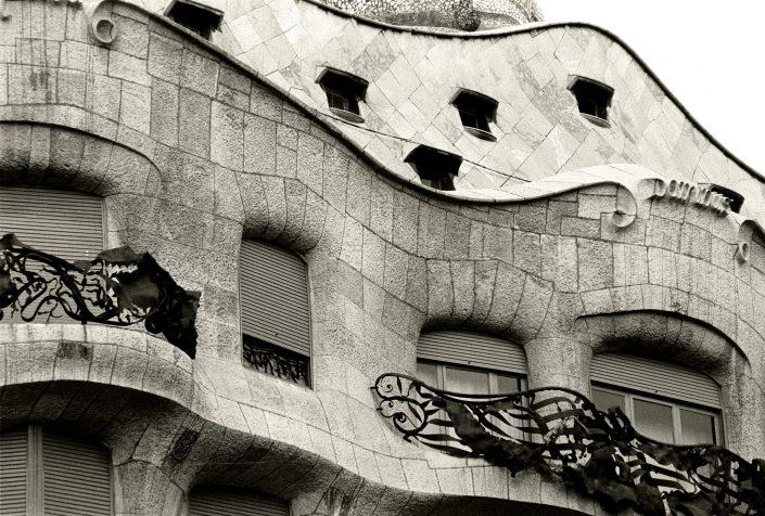 Gaudi Windows - La Pedrera (Barcelona. January 1990)