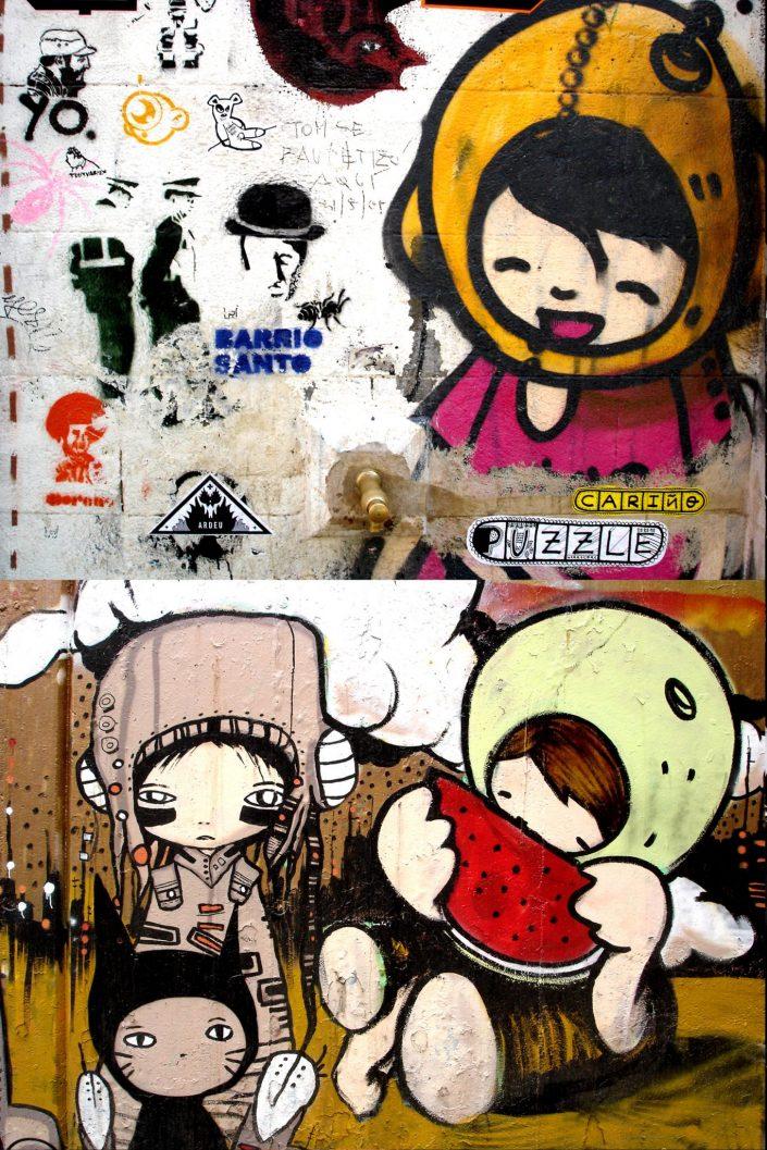 B-toy + TV Boy :: Barcelona Street Art (Stencil Voices. 2003 - 2006)