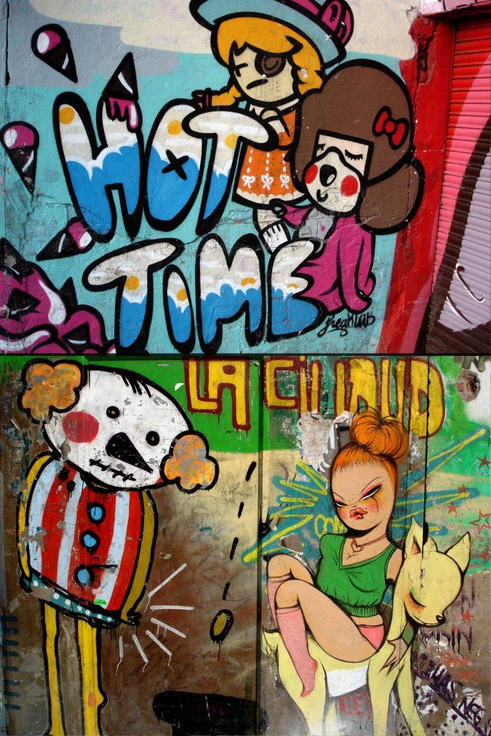 Freakclub + Miss Van :: Barcelona Street Art (Stencil Voices. 2003 - 2006)
