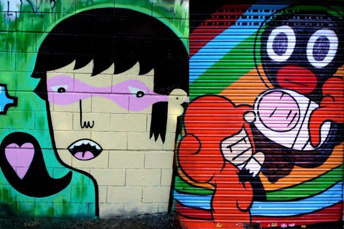 Freakclub + Boris Hoppek :: Barcelona Street Art (Stencil Voices. 2003 - 2006)