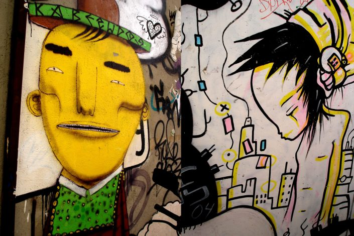 Os Gemeos + B-toy :: Barcelona Street Art (Stencil Voices. 2003 - 2006)