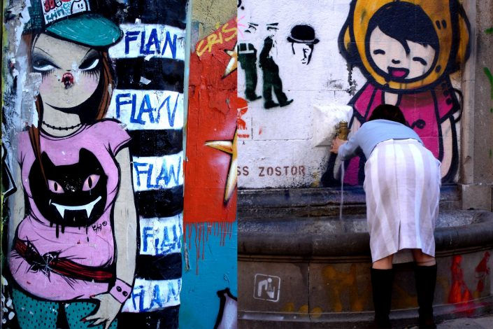 Miss Van + TV Boy :: Barcelona Street Art (Stencil Voices. 2003 - 2006)
