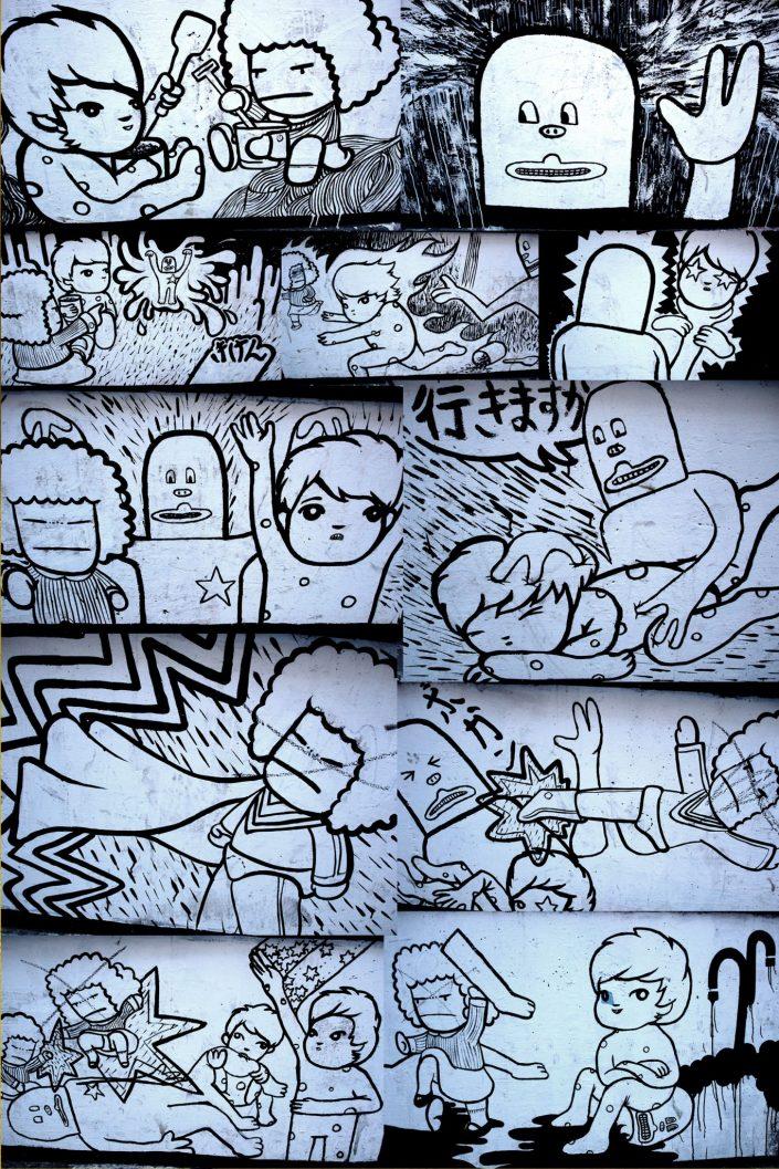 Freakclub + Lolo + Sozaku :: Barcelona Street Art (Stencil Voices. 2003 - 2006)