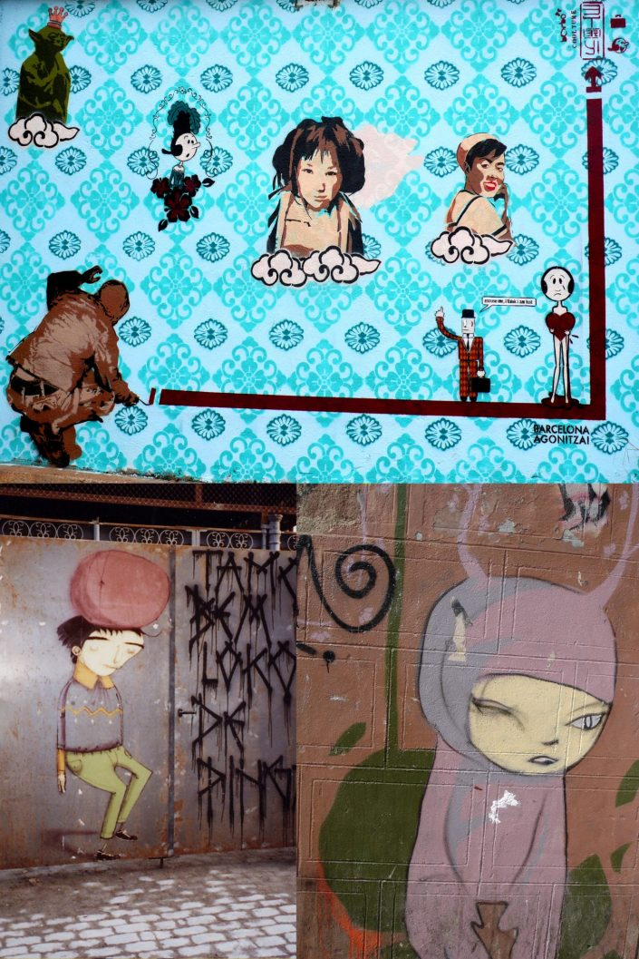 B-toy + Olivi + Dr. Case + Os Gemeos :: Barcelona Street Art (Stencil Voices. 2003 - 2006)