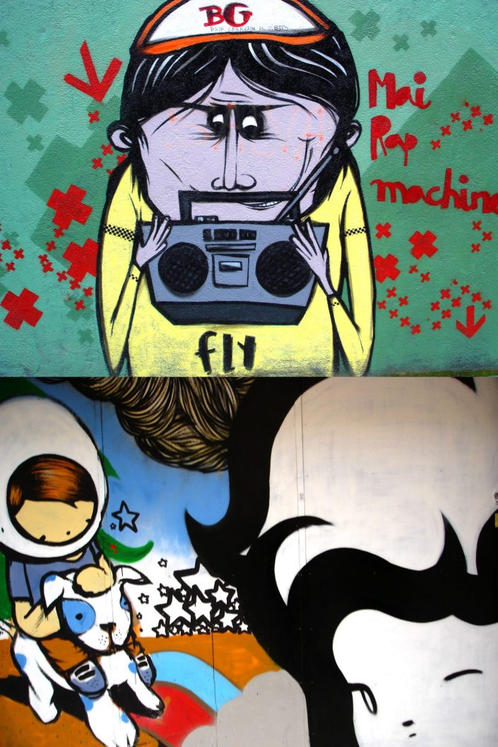 TV Boy + Lolo :: Barcelona Street Art (Stencil Voices. 2003 - 2006)