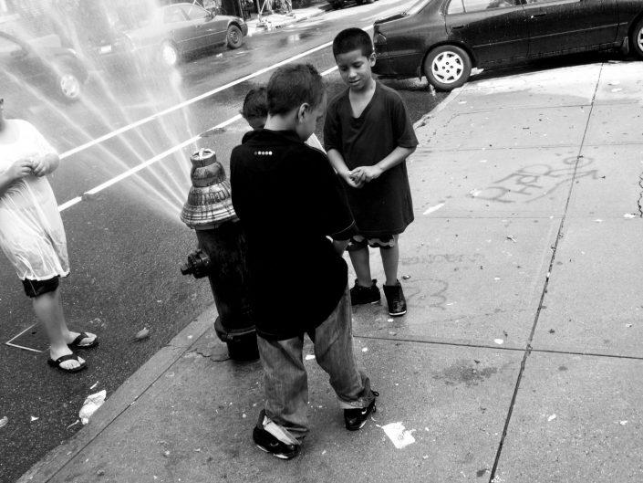 """Street Shower Kids"". Brooklyn. New York City. 2009"