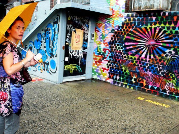 """Williamsburg Umbrella Graffiti"". Brooklyn. New York City. 2009"