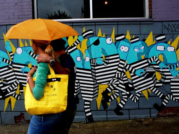 """Williamsburg Umbrella Prisoners"". Brooklyn. New York City. 2009"