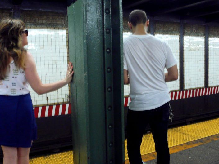 """Subway Aside"". New York City. 2009"