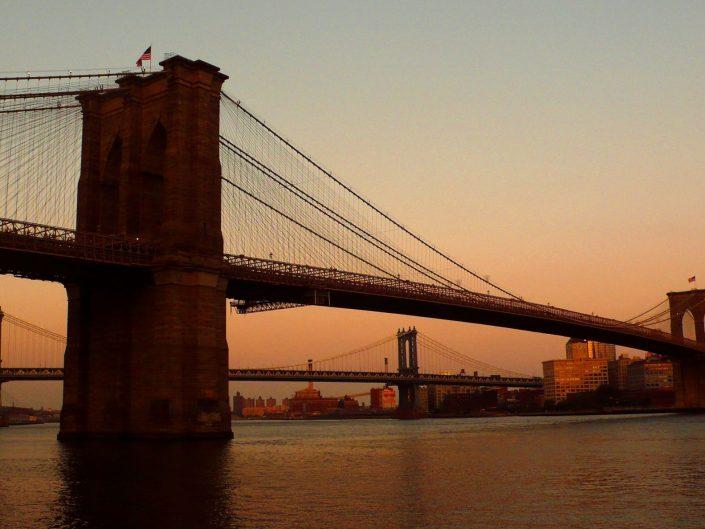 """Brooklyn and Manhattan Bridges"". New York City. 2009"