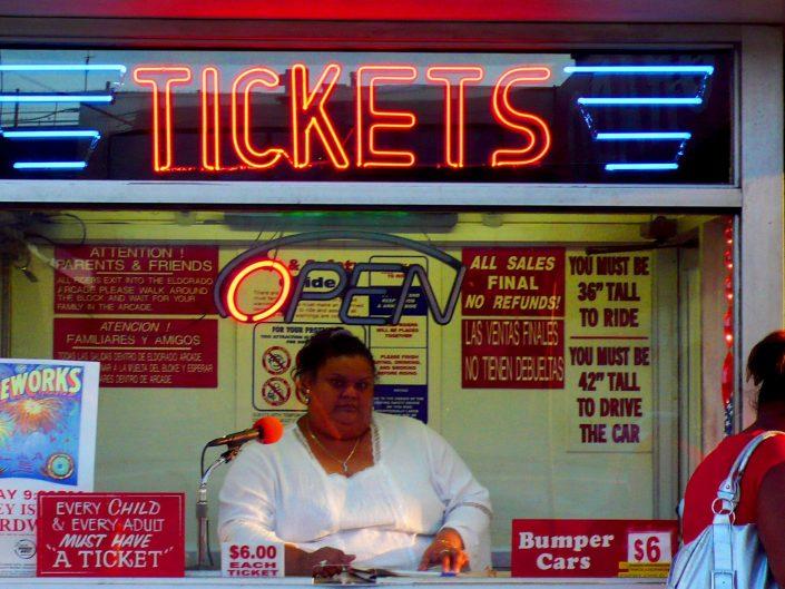 """Tickets"". Coney Island. New York City. 2009"