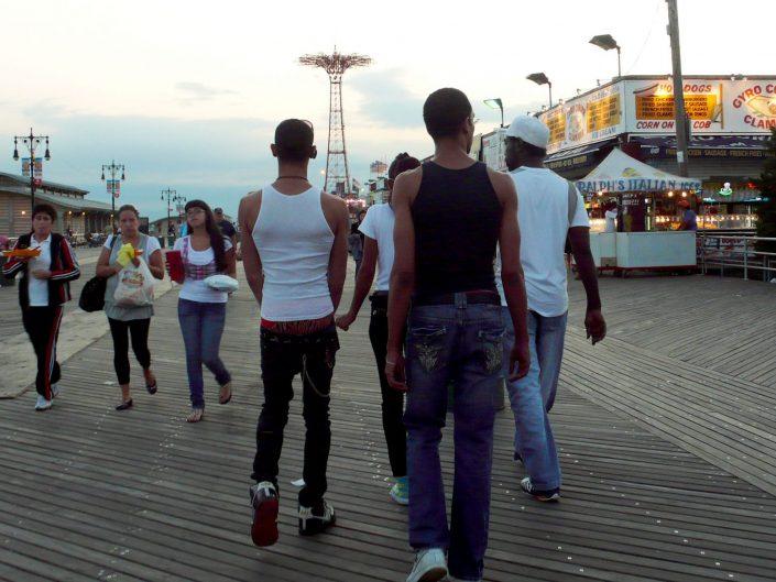 """""""Coney Island Guys"""". Riegelmann Boardwalk. Brooklyn. New York City. 2009"""