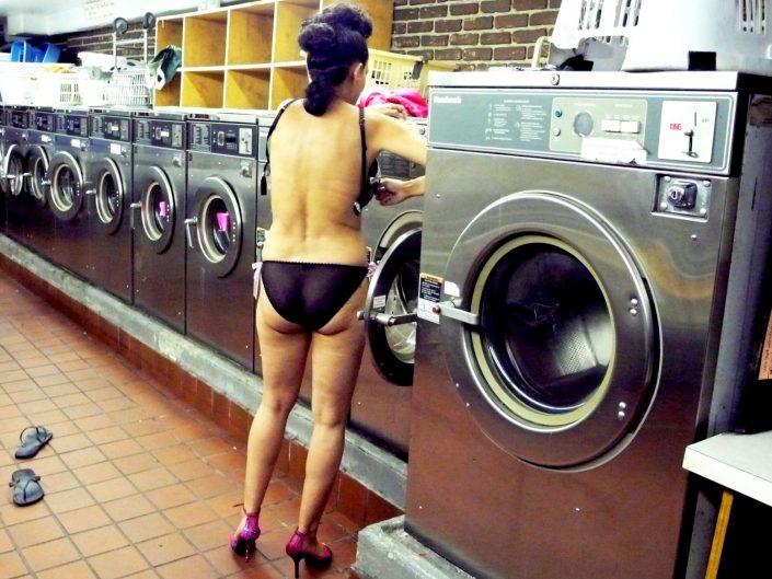 """""""Laundrette Burlesque"""". Lower East Side. Manhattan. New York City. 2009"""
