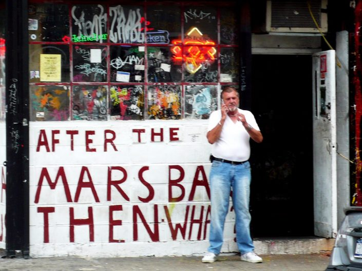 """""""After The Mars Bar Then What?"""". Lower East Side. Manhattan. New York City. 2009"""