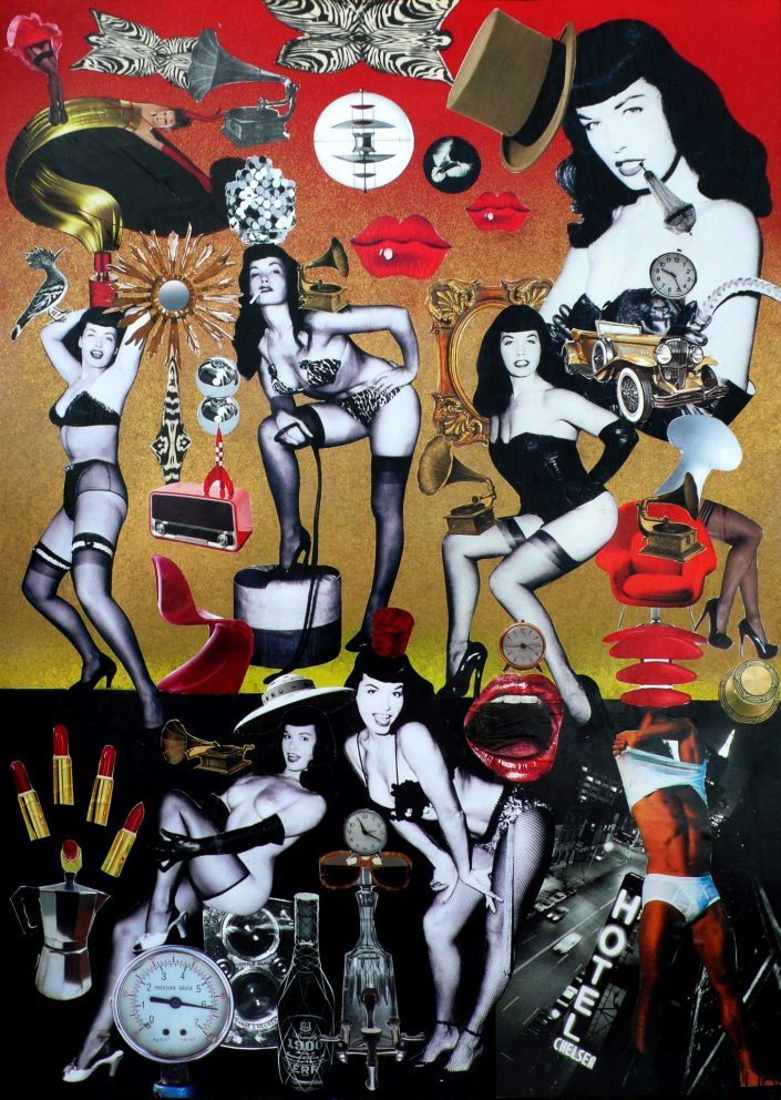24h WITH BETTIE PAGE (Seeder Collage. April 2018)