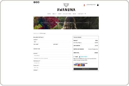 Awanuna Store - Pasarela de pago