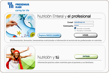 Fresenius Kabi Clinical Nutrition - Login