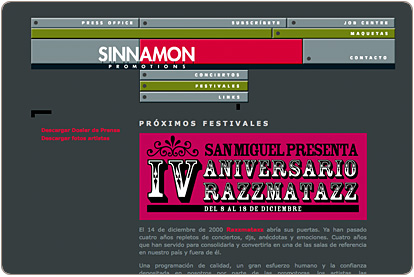Sinnamon Promotions - Festivales