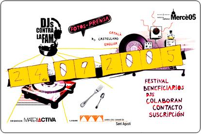 I Festival Djs Contra la Fam 2005
