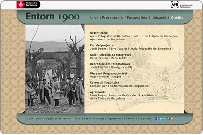 Entorn 1900 - Créditos de la exposición