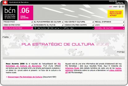 Plan Estratégico de Cultura - Nuevos Acentos .2006